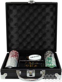 Фабрика Покера: Набор из 100 фишек для покера с номиналом в черном кейсе