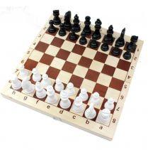 Шахматы пластмассовые в деревянной упаковке (поле 29см х 29см)