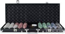 Фабрика Покера: Набор из 500 фишек для покера с номиналом в черном кейсе