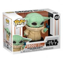 Фигурка Funko POP! Bobble Star Wars: Mandalorian: Grogu with Butterfly (Exc)