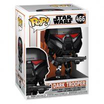 Фигурка Funko POP! Bobble: Star Wars Mandalorian: Dark Trooper (Battle)