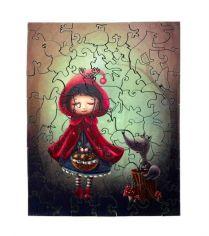 Художественный деревянный пазл И-ной - Красная Шапочка