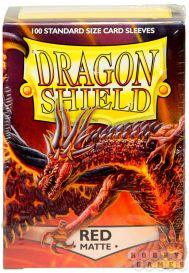 Протекторы Dragon Shield (100 шт., 63х88 мм): красные матовые