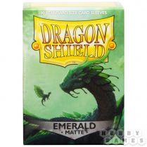 Протекторы Dragon Shield (100 шт., 63х88 мм): матовые изумрудные
