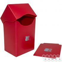 Пластиковая коробочка Blackfire вертикальная - Красная (80+ карт)