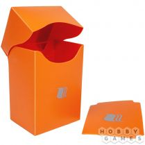 Пластиковая коробочка Blackfire вертикальная - Оранжевая (80+ карт)