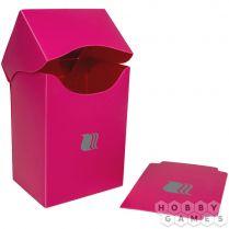 Пластиковая коробочка Blackfire вертикальная - Розовая (80+ карт)