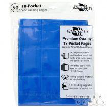 Упаковка листов двусторонних с кармашками 3х3 с боковой загрузкой - Blackfire (синий)