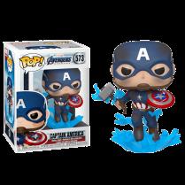 Фигурка Funko POP! Bobble:Marvel: Avengers Endgame: Capt A w/BrokenShield&Mjolnir