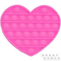 Игрушка-антистресс Pop It Сердце (розовый)