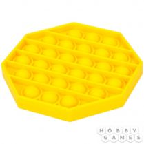 Игрушка-антистресс Pop It Восьмиугольник (жёлтый)