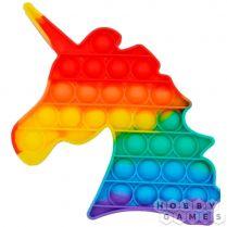 Игрушка-антистресс Pop It Единорог (разноцветная)