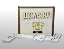 Домино деревянное (деревянная коробка)