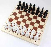 Шахматы и шашки пластмассовые в деревянной упаковке (поле 29х29 см)