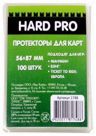 Протекторы HardPro (стандарт. 100 шт., для карт 56х87 мм) прозрачные