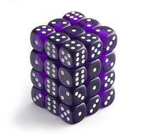 Набор кубиков STUFF PRO D6. Прозрачные фиолетовые 12 мм 36 шт, Китай