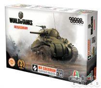 World of Tanks. M4 SHERMAN. Масштабная модель 1:56 (Сборный танк)