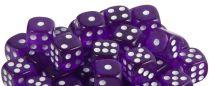 Набор кубиков STUFF PRO D6 под мрамор. Фиолетовые с белым 12 мм 36 шт, Китай