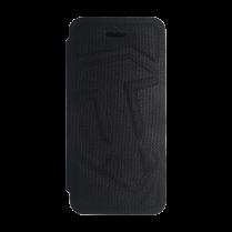 Чехол-Книжка для iPhone 5/5S c логотипом WOT «Черный текстиль»
