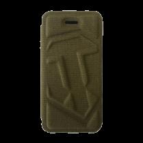 Чехол-Книжка для iPhone 5/5S c логотипом WOT «Зеленый текстиль»